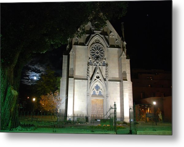 Loretto Church In Santa Fe Metal Print