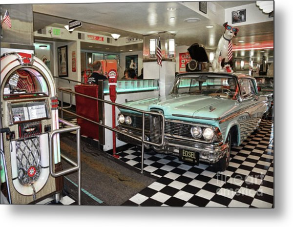 Loris Diner In San Francisco Metal Print