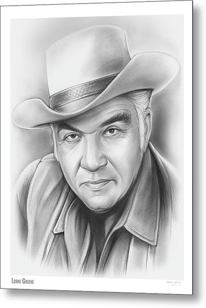 Lorne Greene Metal Print