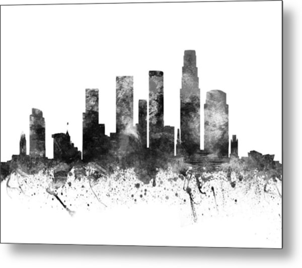 Los Angeles California Cityscape 02bw Metal Print