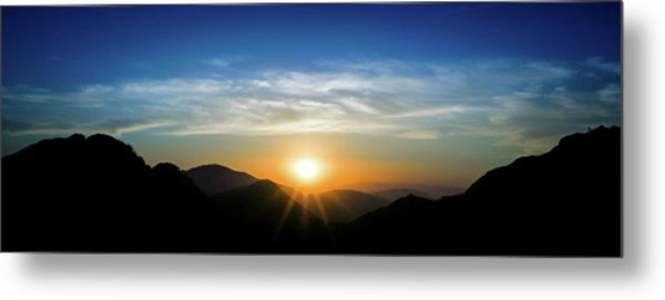 Metal Print featuring the photograph Los Angeles Desert Mountain Sunset by T Brian Jones