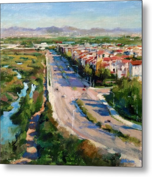 Los Angeles - Playa Vista From South Bluff Trail Road Metal Print
