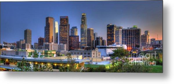 Los Angeles Skyline Metal Print by Eddie Yerkish