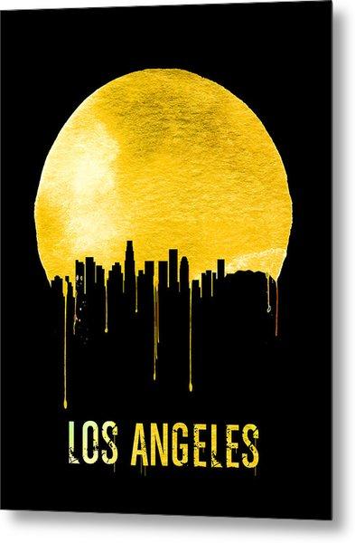 Los Angeles Skyline Yellow Metal Print