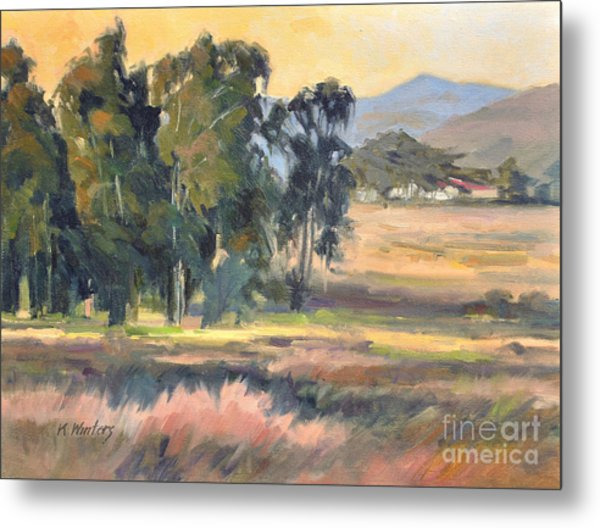 Los Osos Valley - For The Love Of The Land - California Landscape Painting Metal Print by Karen Winters