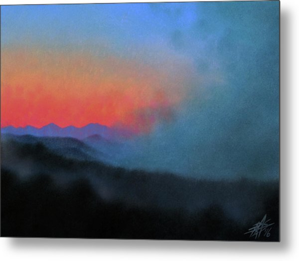 Los Penasquitos Canyon Xiii--coastal Fog At Dawn Metal Print by Robin Street-Morris