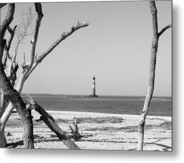 Lost At Sea...morris Island Lighthouse Metal Print by Elena Tudor