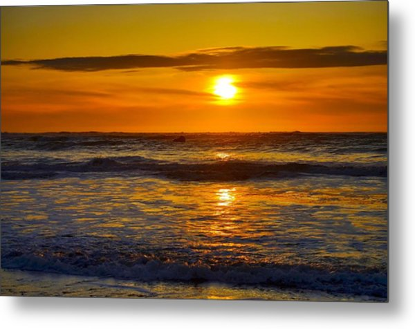 Lost Coast Sunset Metal Print