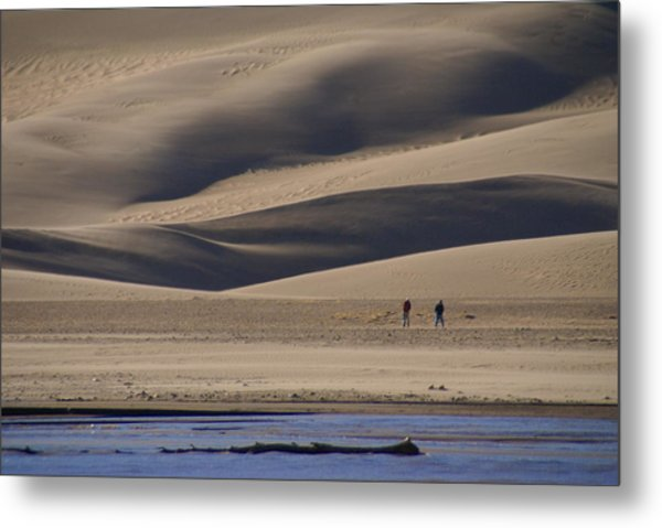 Lost In The Great Sand Dunes Metal Print