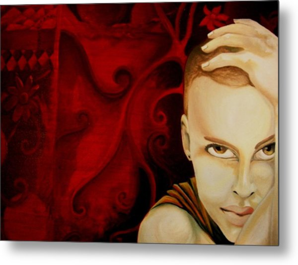 Lost In Thought Metal Print by Victoria Dietz
