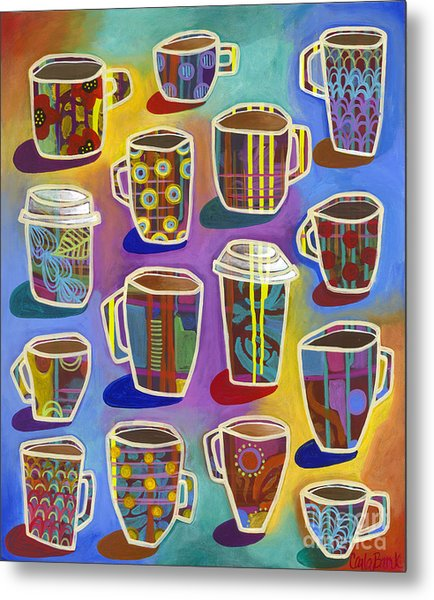 Metal Print featuring the painting Lots Of Lattes by Carla Bank