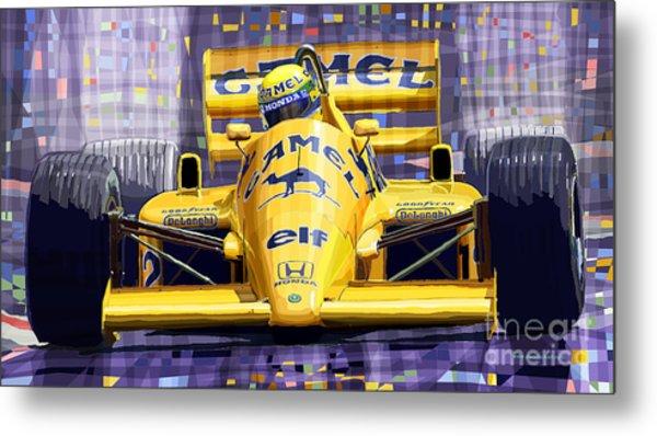 Lotus 99t Spa 1987 Ayrton Senna Metal Print