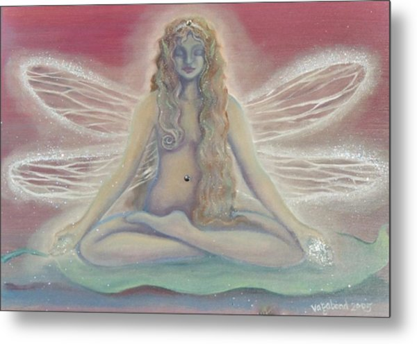 Lotus Faerie Princess Metal Print