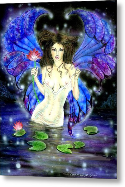 Lotus Goddess Fairy Metal Print by Carmen Daspit