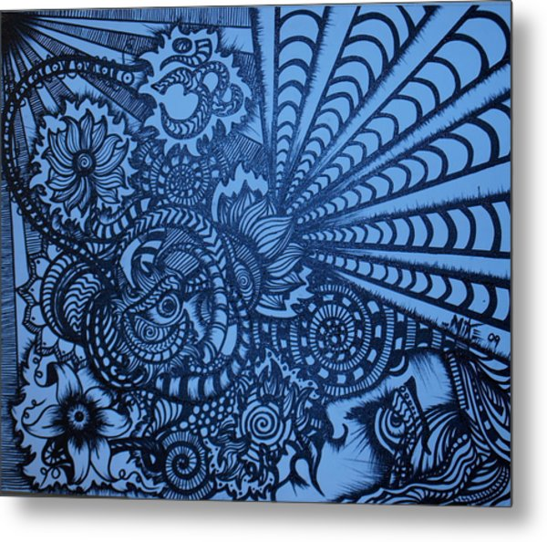 Lotus Vibrations  Metal Print by Mike OKeefe