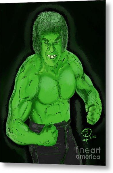 Lou Ferrigno's Hulk Metal Print by Joseph Burke