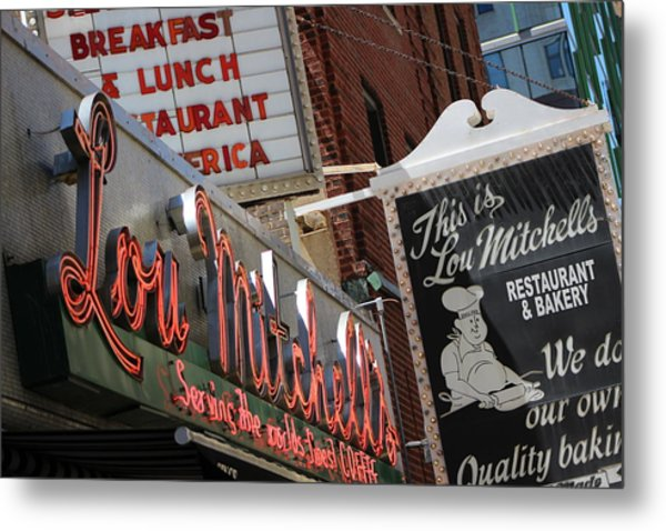 Lou Mitchells Restaurant And Bakery Chicago Metal Print