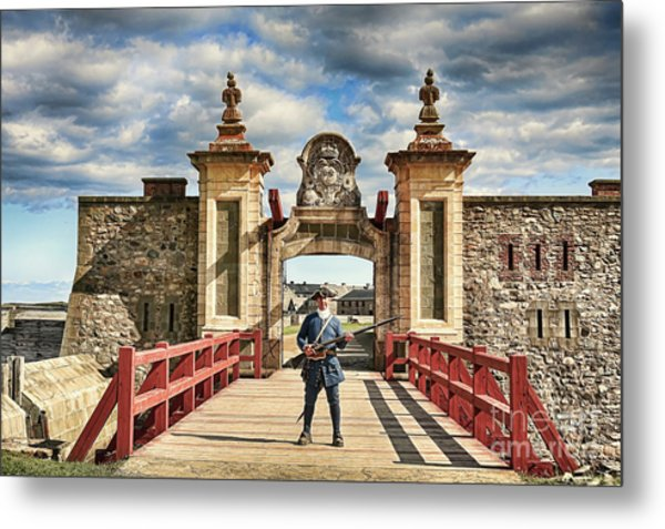 Louisbourg Fortress, Nova Scotia Metal Print