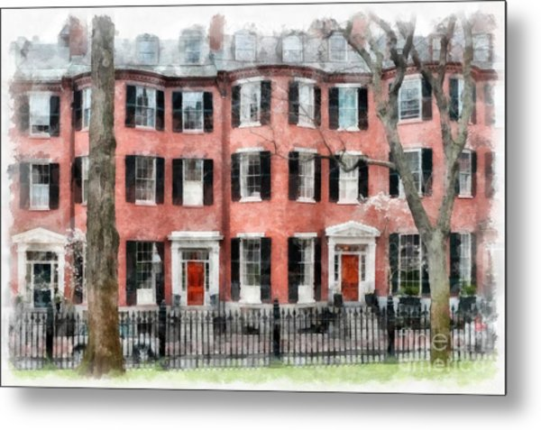 Louisburg Square Beacon Hill Boston Metal Print