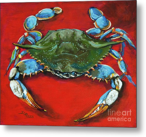 Louisiana Blue On Red Metal Print