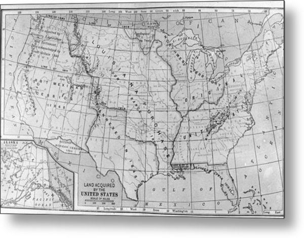 Louisiana Purchase Map Metal Print