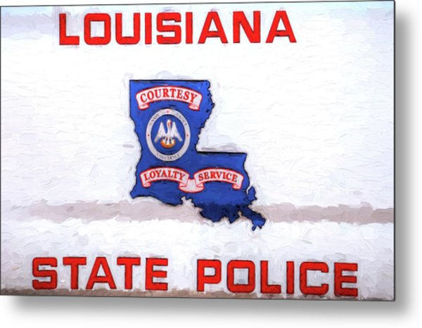 Louisiana State Police Metal Print by JC Findley