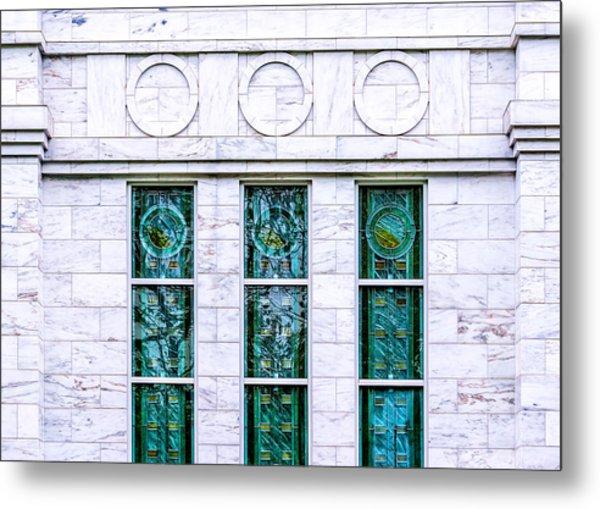 Louisville Temple Details Metal Print