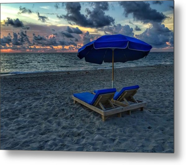 Lounging By The Sea Metal Print