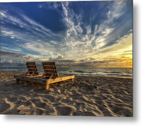 Lounging For 2 Metal Print