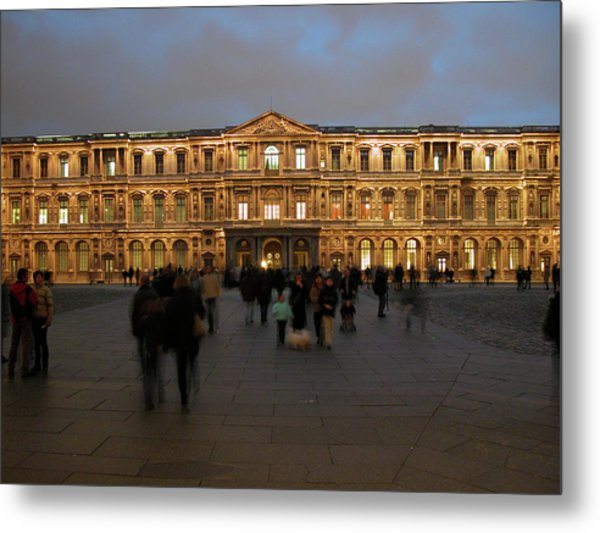 Metal Print featuring the photograph Louvre Palace, Cour Carree by Mark Czerniec