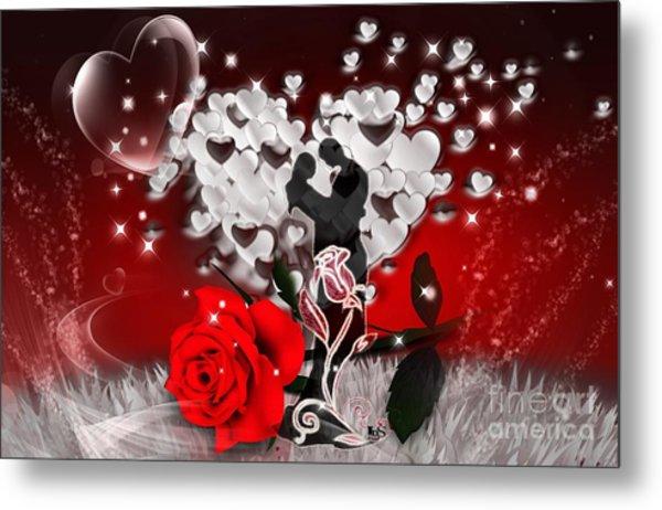 Love And Flowers Metal Print