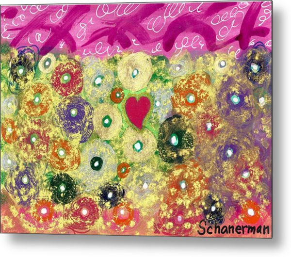 Love And Silly Bubbles Metal Print