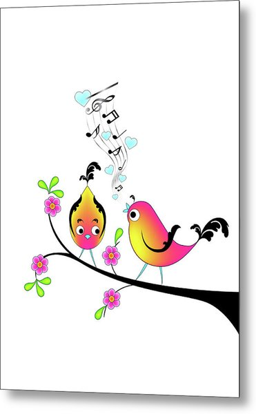 Love Bird Serenade Metal Print