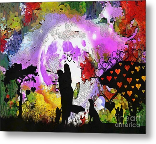 Love Family And Friendship In The Mix Metal Print