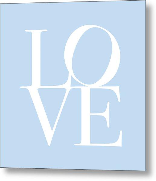 Love In Baby Blue Metal Print
