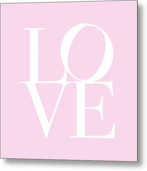 Love In Pink Metal Print