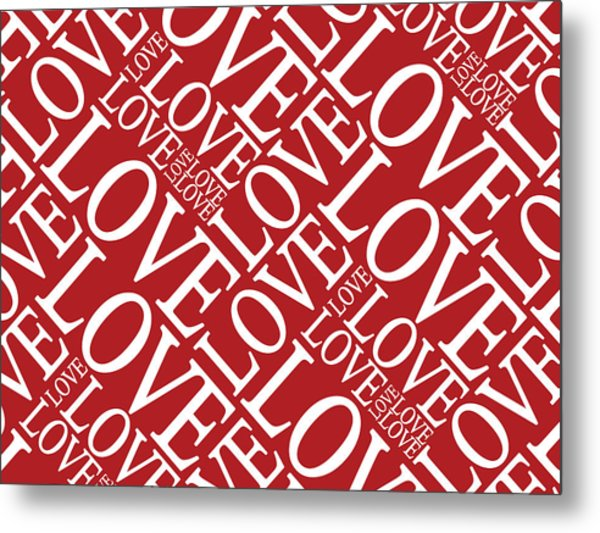 Love In Red Metal Print by Michael Tompsett