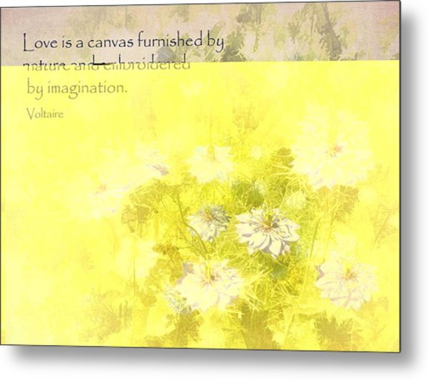 Love Is A Canvas - Nigella Damascena Metal Print