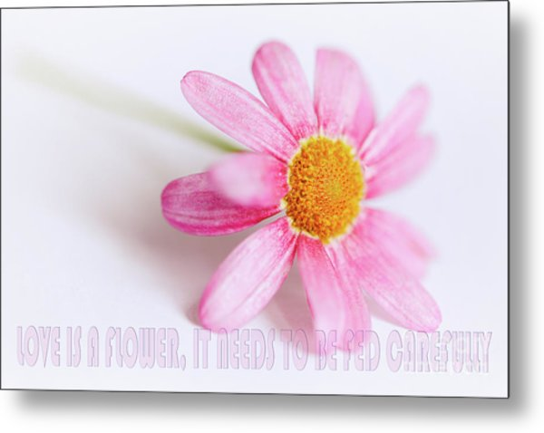 Love Is A Flower Metal Print