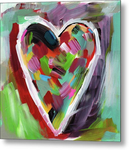Love Is Colorful 3- Art By Linda Woods Metal Print
