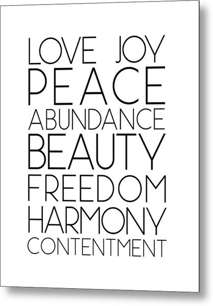 Love Joy Peace Beauty Virtues Metal Print