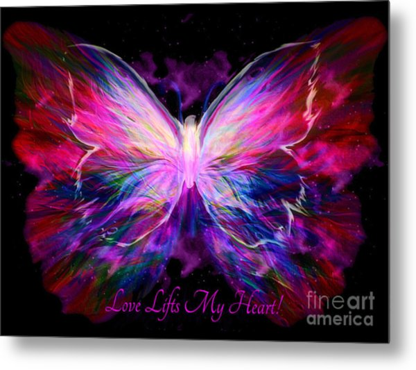 Love Lifts My Heart Metal Print