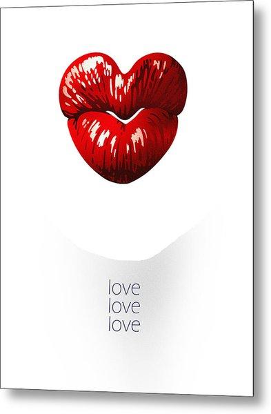 Love Poster Metal Print