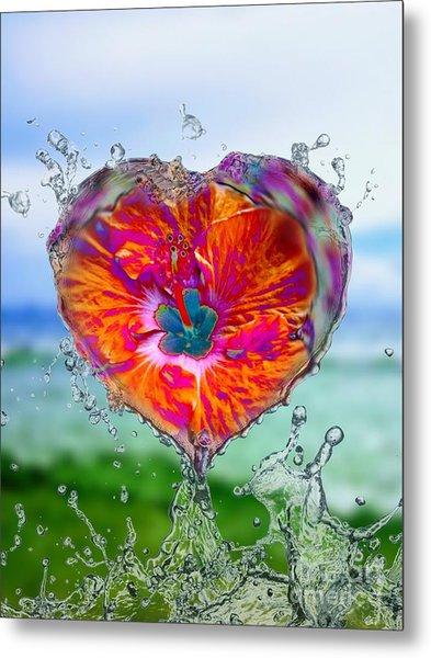 Love Makes A Splash Metal Print