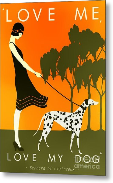 Love Me Love My Dog - 1920s Art Deco Poster Metal Print
