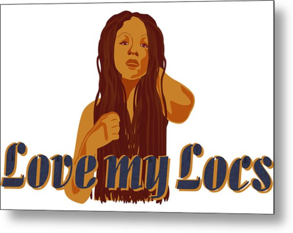Love My Locs Metal Print