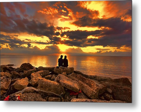 Love On The Rocks Metal Print