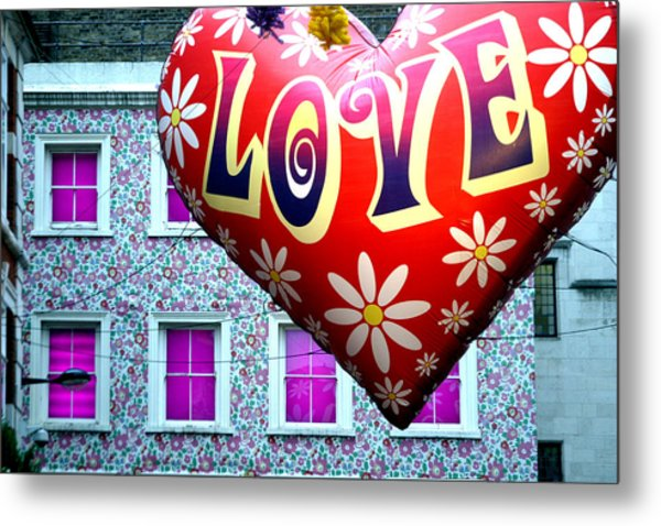 Love On The Roof Tops Metal Print by Jez C Self