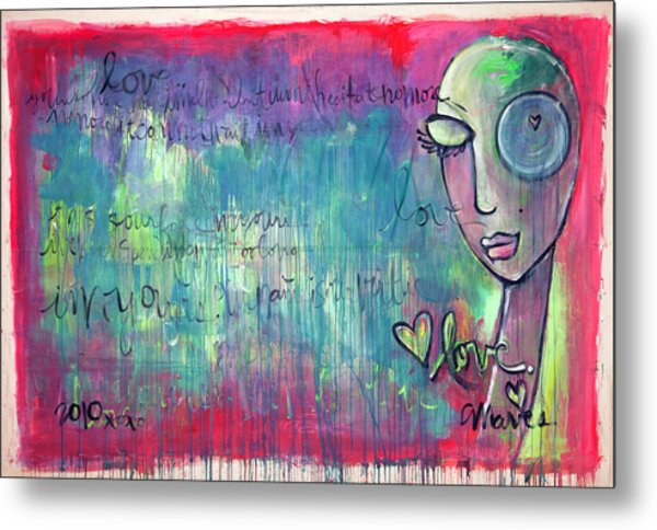 Love Painting Metal Print