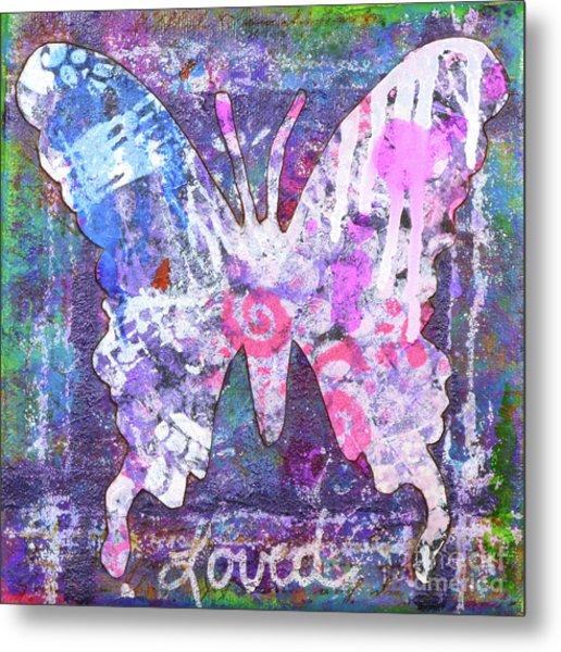 Loved Butterfly Metal Print